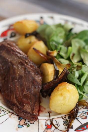 Onglet la plancha sauce marchand de vin pommes de terres nouvelles blogs de cuisine for Marchand de cuisine