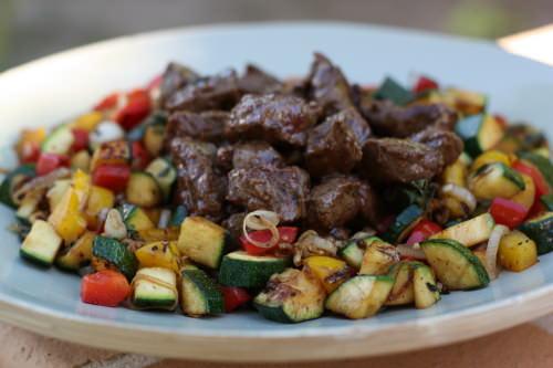 Boeuf saut aux l gumes la plancha ma p 39 tite cuisine for Legumes a la plancha