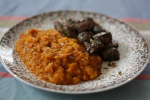 crase de courge butternut au chorizo