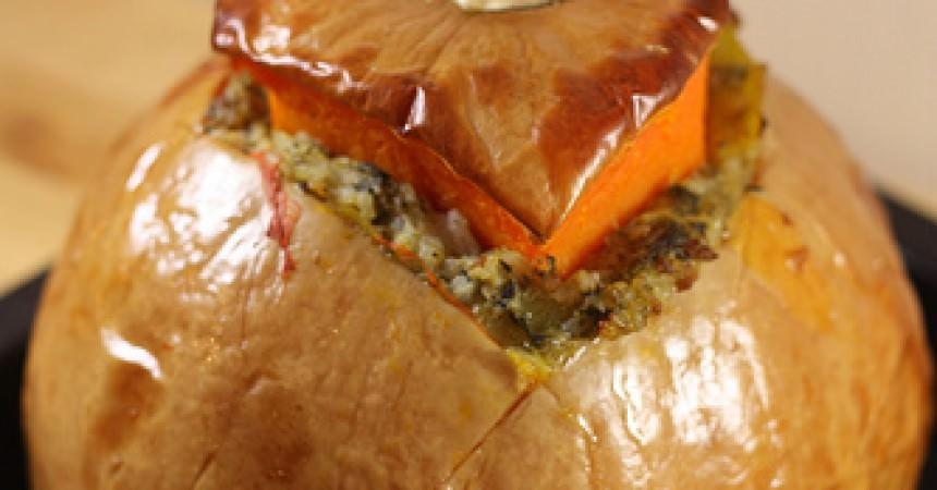 Citrouille farcie pour halloween ma p 39 tite cuisine for Cuisine entiere