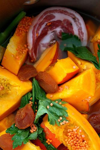 Velout de potimarron lard lentilles blogs de cuisine - Cuisiner lentilles seches ...