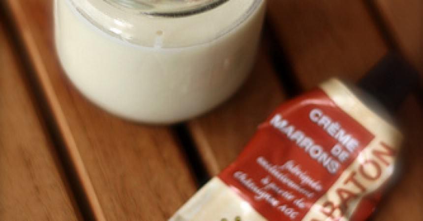 Yaourts à la crème de marron