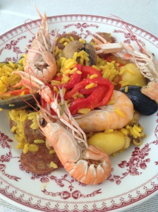 Paella maison aux fruits de mer