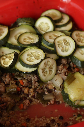 Gratin de courgette et saucisse de toulouse ma p 39 tite - Comment cuisiner des saucisses de toulouse ...