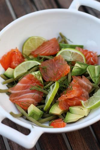 Gravlax de saumon ma p 39 tite cuisine - Cuisiner haricots verts ...