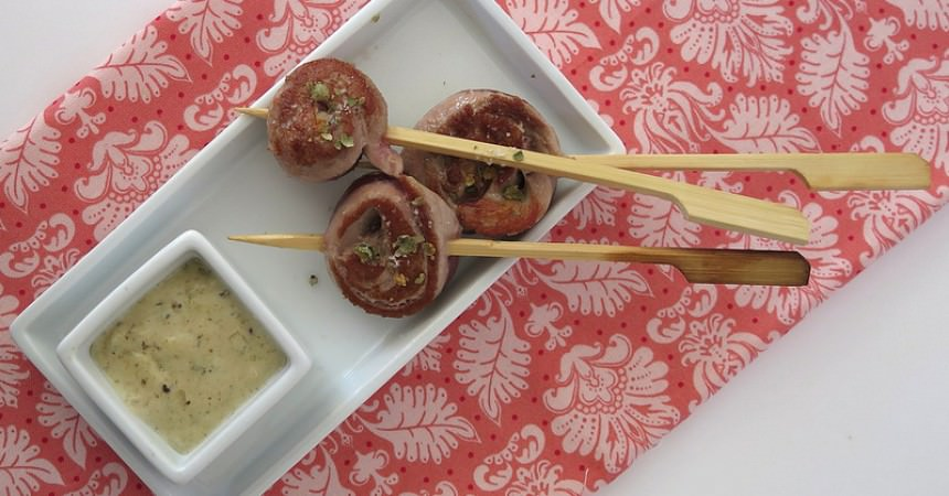 Sucettes de canard, sauce au poivre vert