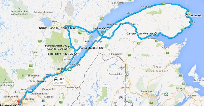 A la découverte du Québec & la Gaspésie (Canada)