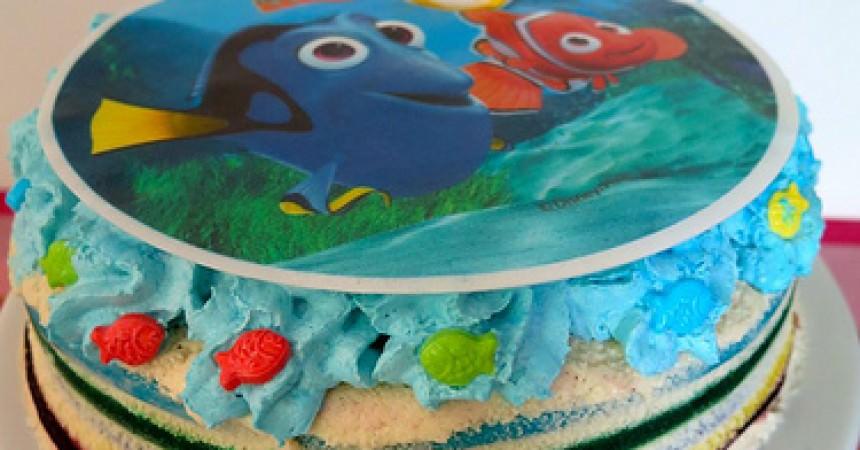 Un rainbow cake ? Plus jamais … et un gâteau d'anniversaire Némo