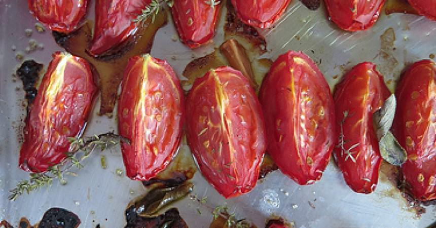 Les légumes de l'Amap, j'en fais quoi ? Les tomates confites au four rapides et faciles à préparer