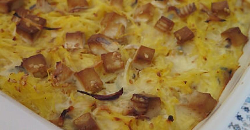 Les légumes de l'Amap j'en fais quoi ? Un gratin de courge spaghetti