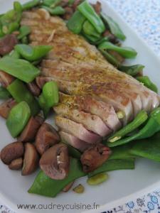 Ventrèche de thon aux p'tits légumes