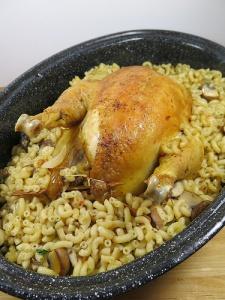 En attendant Noël #2 : Poulet farci aux coquillettes et au foie gras