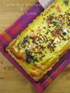 Les légumes de l'Amap j'en fais quoi ? Une tarte salée aux blettes & saumon fumé