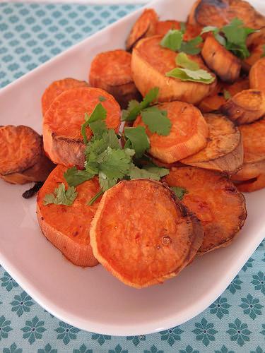 Patates douces au four aux épices