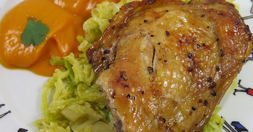 Poulet aux pices du trappeur pur e de patate douce l rable canada l 39 index des recettes - Recette poulet patate douce ...