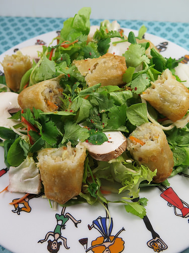 salade asiatique aux nems blogs recettes. Black Bedroom Furniture Sets. Home Design Ideas