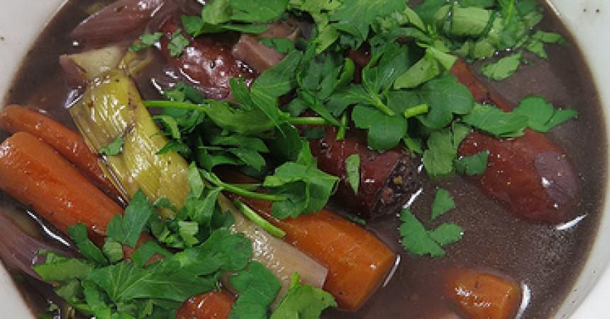 Diots mijotées aux légumes