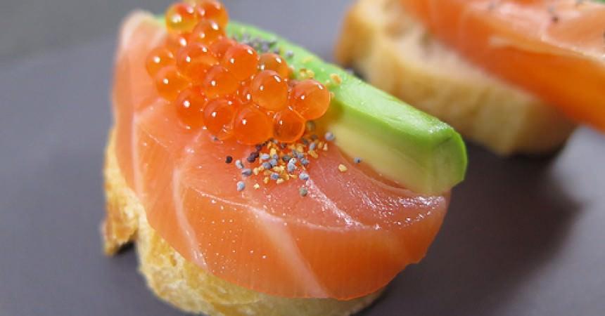 Duo de saumon & avocat au yuzu