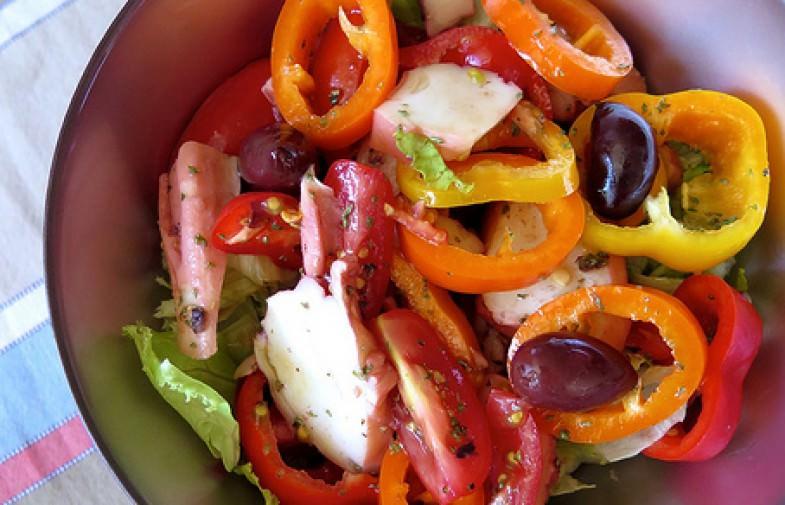 Salade de Poulpe aux poivrons