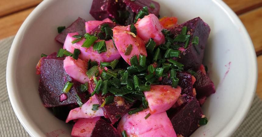 Les légumes de l'Amap j'en fais quoi ? Une salade de betteraves