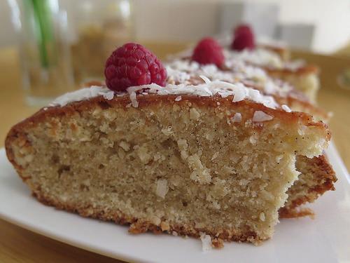 Cake à la vanille et à la noix de coco
