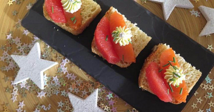 Duo festif de saumon fumé & agrumes