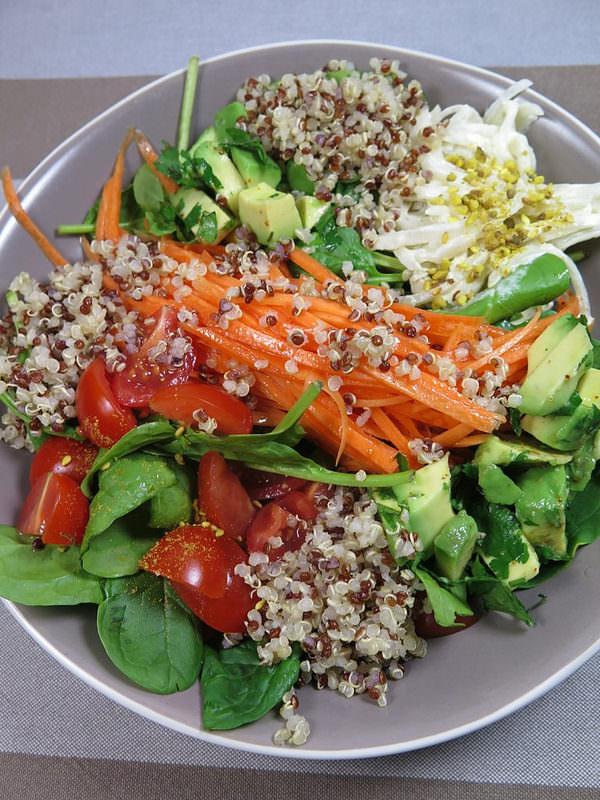 Salade composée healthy & veggie d'entre les fêtes