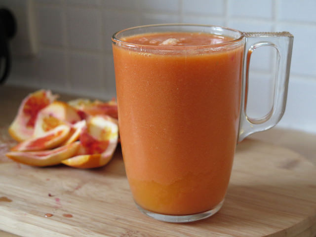 Smoothie mangue & orange sanguine