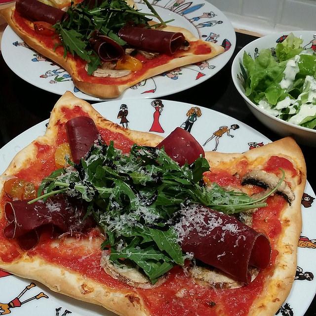 Pizza individuelles légères