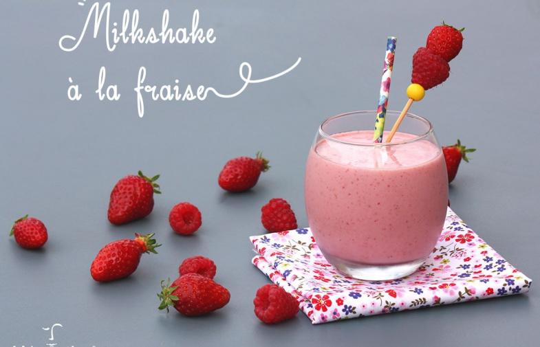Milkshake à la fraise