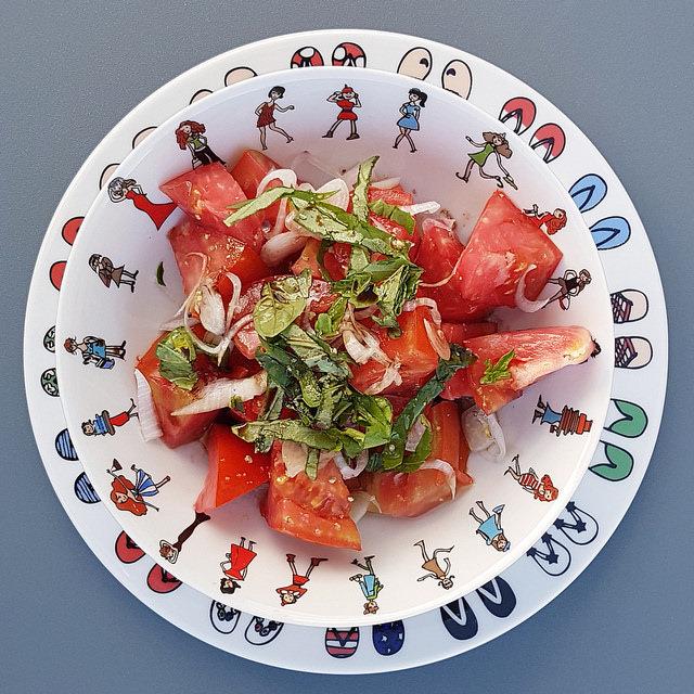 La salade de tomates parfaite
