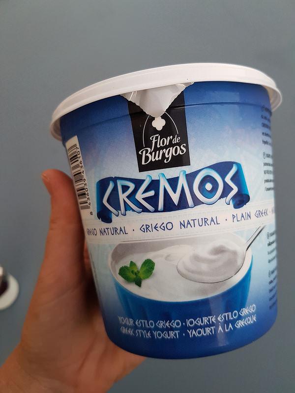 Verrine de yaourt a la grecque, compotée de fruits d'automne