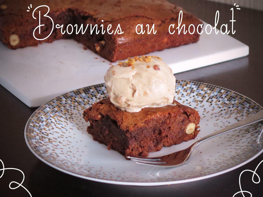 Brownies au chocolat & pralin�