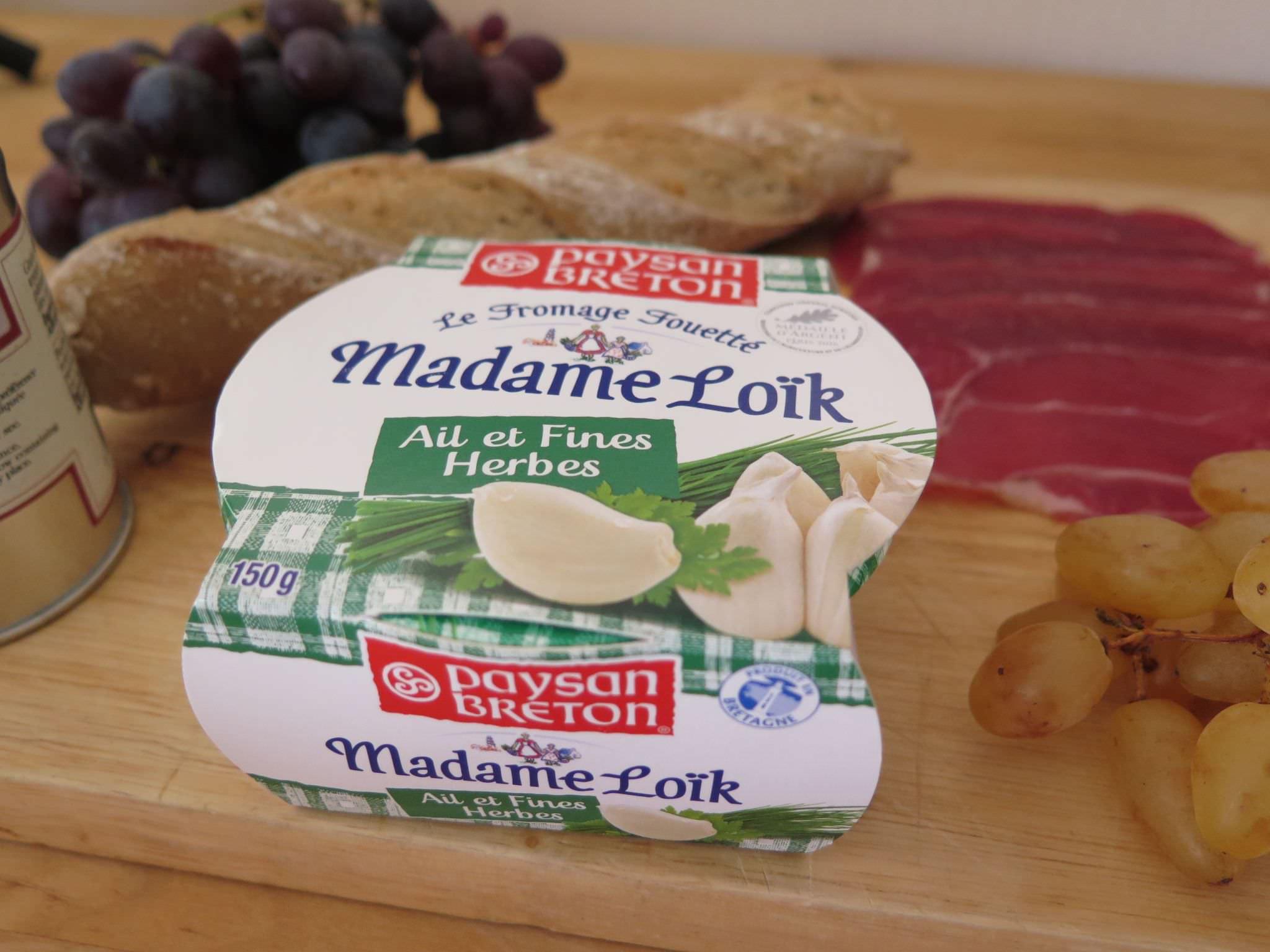 Les p'tites tartines de Madame Loïk au jambon & raisins