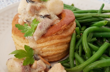 Vol au vent aux fruits de mer