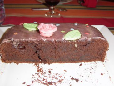 "Gâteau au chocolat ""coeur à la rose"""