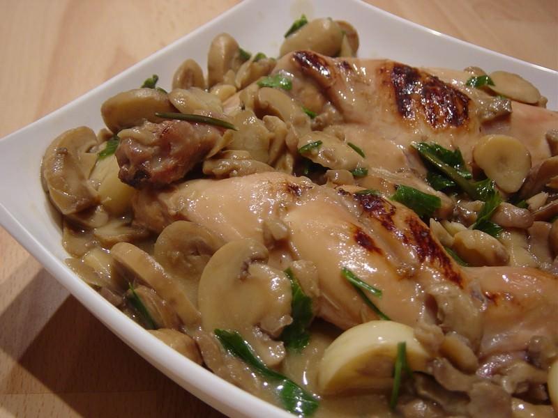 Lapin aux champignons persill s ma p 39 tite cuisine - Ma p tite cuisine ...