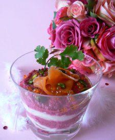 [recettes de fêtes] Duo de mousses potagères au saumon fumé