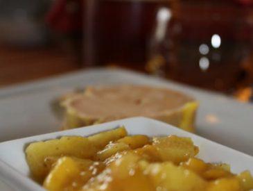 Foie gras et compotée d'ananas et de mangues