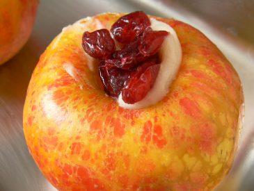 Pommes Antarès au miel & cranberries