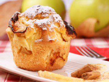 Muffins aux pommes & noix pour un brunch avec les merveilles