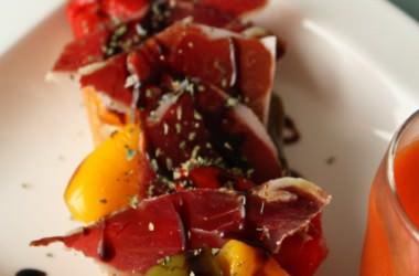 Tartine aux poivrons grillés