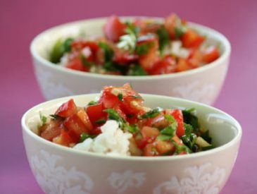 Riz au coco et sambal de tomates