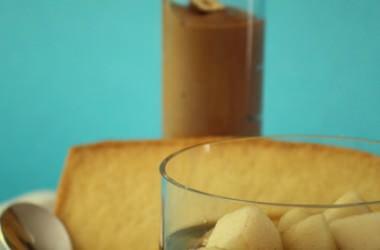 Crème au nutella, sablés et poires aux épices