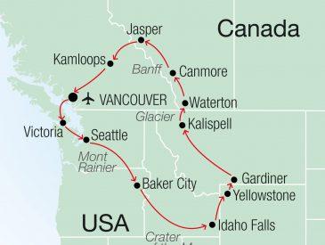 A la découverte des grands espaces, côte Ouest du Canada & des USA