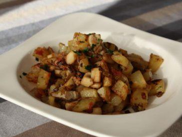Pommes de terre sautées, pancetta & pleurotes