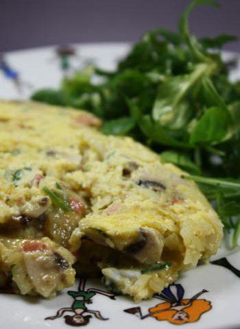 Omelette vide frigo