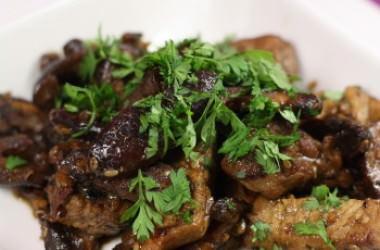 Wok de porc au shitakés