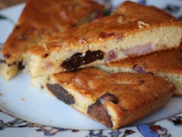 Cake salé lardons & pruneaux
