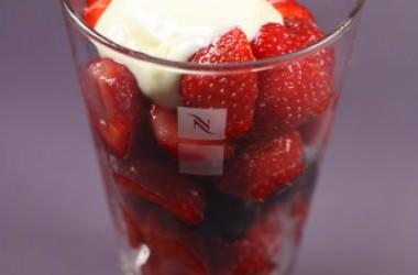 Salade de fraises au lemon curd